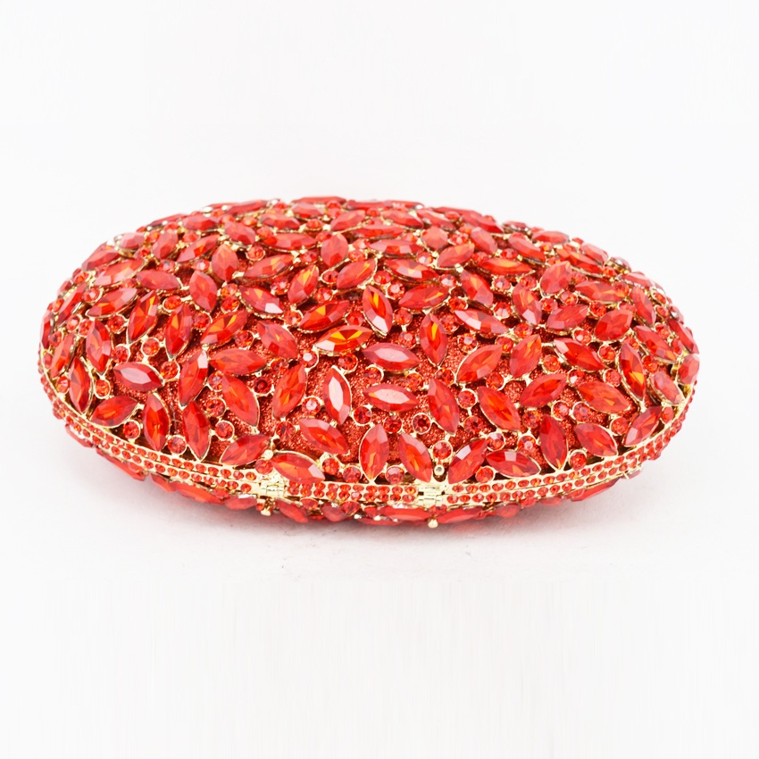 c559cce676 oval luxury evening clutch bags red Handcraft crystal clutch purse golden  diamante women party evening bags handbags SC154-in Top-Handle Bags from  Luggage ...