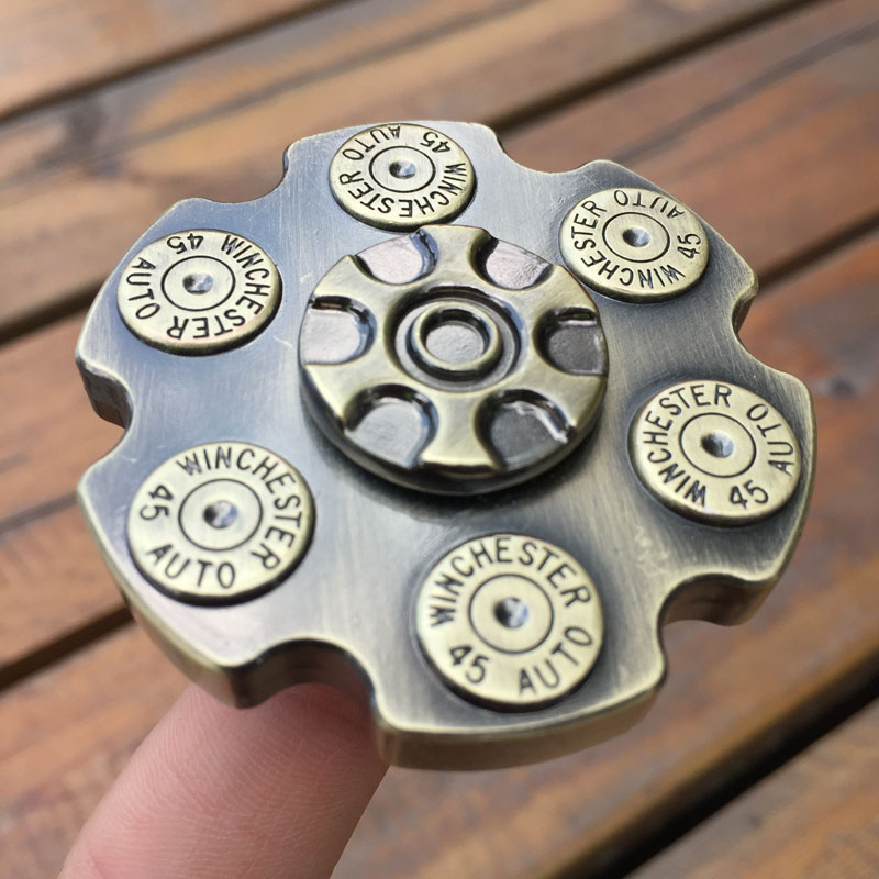 New Vintage Revolver Bronze Metal Fidget Spinner EDC Finger Toys Hand Spinner Kids/adult ADHD Relief Stress Toy Kids Gift infinity cube new style spinner fidget high quality anti stress mano metal kids finger toys luxury hot adult edc for adhd gifts
