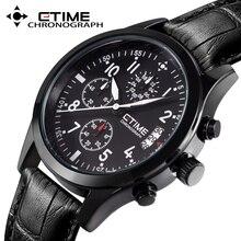 Moda CTIME Dial Grande Reloj de Los Hombres de la Marca de Lujo de Cuarzo Ocasional Militar Sport Reloj Digital de Pulsera relogio masculino de Los Hombres