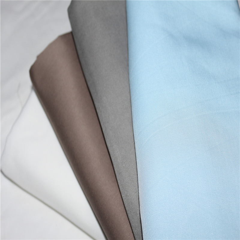 100% Bamboo Fiber Bactericidal Eco-Friendly White Gray  Light Blue Color Flat Fitted Sheets Pillowcase 4 Pieces Set Customize