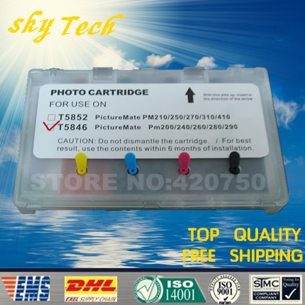 Empty Refill Ink cartridge suit for T5846 , E5846 Suit for EPSON  PM200 PM240 PM280 PM290 PM225,  with ARC chips dye refill ink suit for epson t5846 cartridges suit for epson pm280 pm200 pm240 pm290 pm225 specialized ink