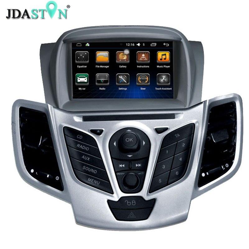 JDASTON Android 6.0 2 Din Car Radio For Ford Fiesta 2008 2009 2010 2011 2012 2013 2014 2015 Car Multimedia GPS Video DVD Player шины tigar sigura 185 60 r14 82h