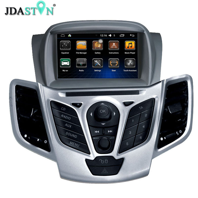 JDASTON Android 6.0 2 Din Car Radio For Ford Fiesta 2008 2009 2010 2011 2012 2013 2014 2015 Car Multimedia GPS Video DVD Player