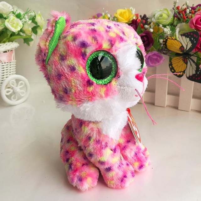 placeholder TY BEANIE BOOS 1PC 15CM Sophie pink cat BIG EYES Plush Toys  Stuffed animals soft toys 2d6d1759bbec