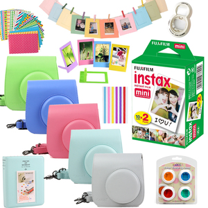 Image 2 - For Fujifilm Instax Mini 8 Mini 9 Instant Photo Camera PU Leather Case Bag Cover + 20 Sheets Instax Mini Films + Accessories Set
