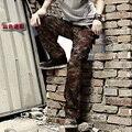 Бесплатная Доставка 2016 Новых Людей Прибытия Камуфляж Военные брюки Комбинезоны Брюки Хлопковые Брюки-Карго Более Карман Плюс Размер 28-40