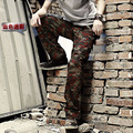 Free Shipping 2016 New Arrival Men Camouflage Military Pants Overalls Pants Cotton Cargo Pants More Than Pocket Plus Size 28-40