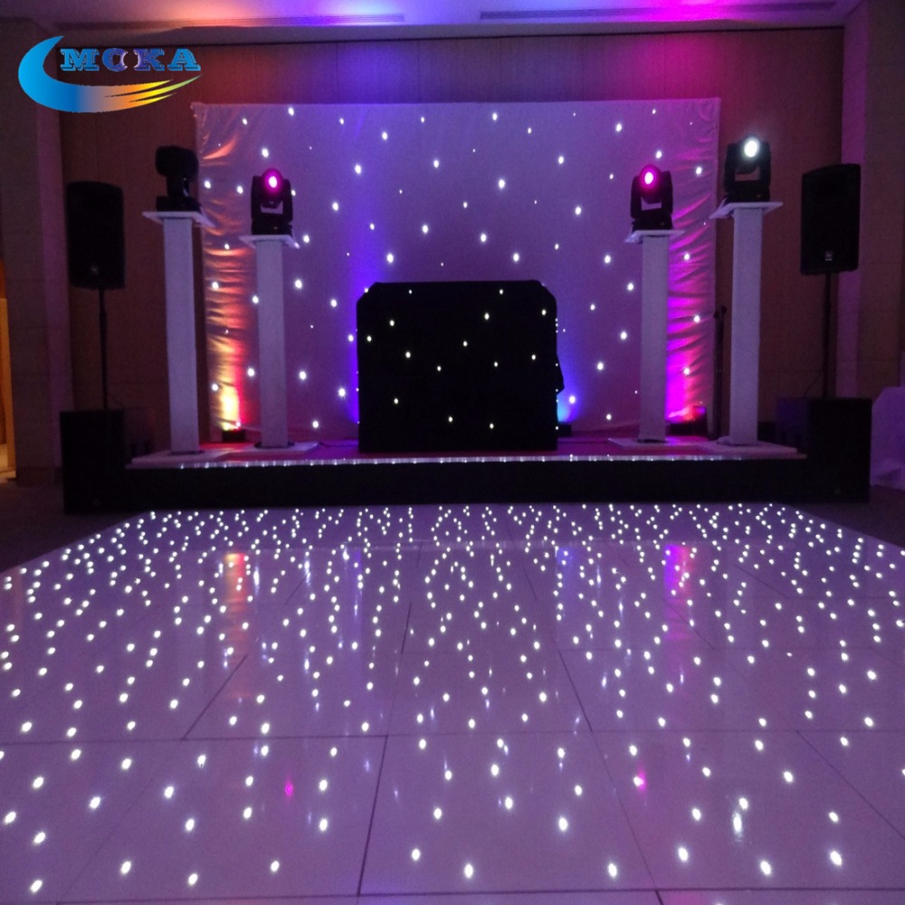 Flight Case packing with16X16 Feet Led Wedding Dance Floor Concert Stage Flooring Dance DJ Lighting Floor Flight Case