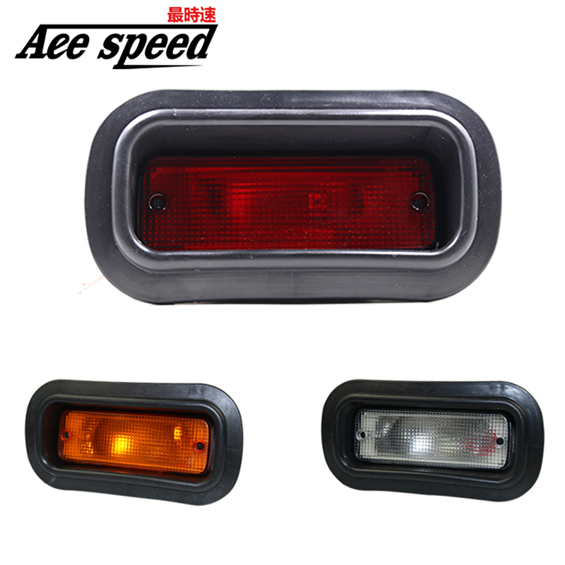 Universal For HONDA-CIVIC-DEL-SOL-CRX-EF-SI-JDM-EDM-CUSTOM-RED-LENS-REAR-BUMPER-FOG-LIGHf1