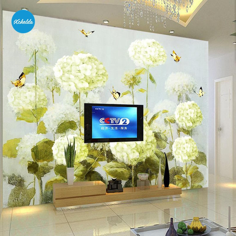 XCHELDA Custom 3D Wallpaper Design  Hydrangea Photo Kitchen Bedroom Living Room Wall Murals Papel De Parede Para Quarto kalameng custom 3d wallpaper design street flower photo kitchen bedroom living room wall murals papel de parede para quarto
