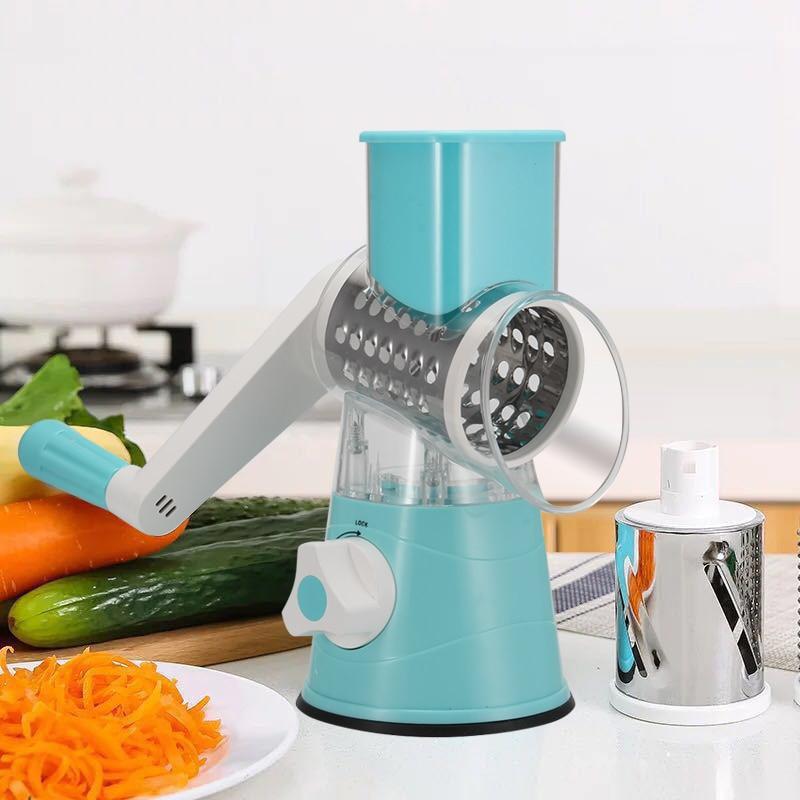 Caliente, de moda, Multi-función de helicóptero Manual de rallador vegetal de la fruta cortador utensilios de cocina @ ¿AU14