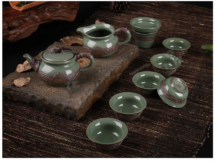 10pcs/set Superior quality artwork tea set Porcelain Brand Exquisite Set Kung Fu Tea Cup Hot sales of Ceramic tea set.Coffee cup|tea set|kung fu tea cup|tea cup - title=