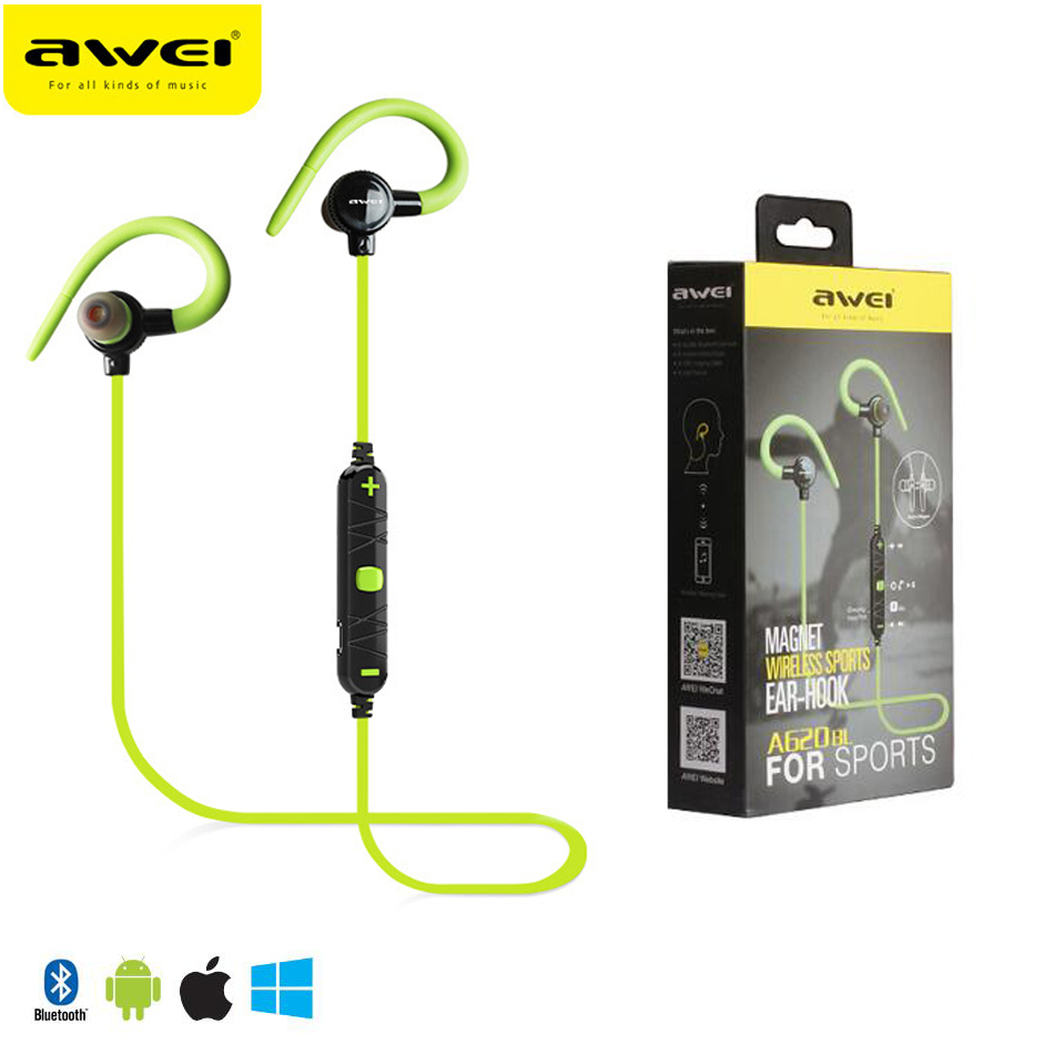 2017 High Quality Awei A620BL Wireless Bluetooth Stereo Hifi Bass Earphone Noise Isolation Headphone With Mic for Smartphone