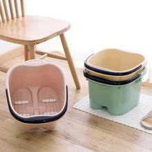 Portable Japanese Style Foot Bath Tub Roller Massage Foot Bucket Large Plastic Foot Washing Barrel Health Essential Artifact(China)