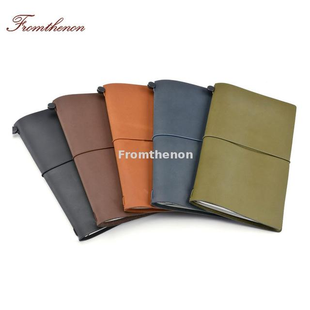 Genuine Leather Travelers Notebook Passport Personal Diary Vintage Journal Notebooks And Journals Retro Stationery Business Gift