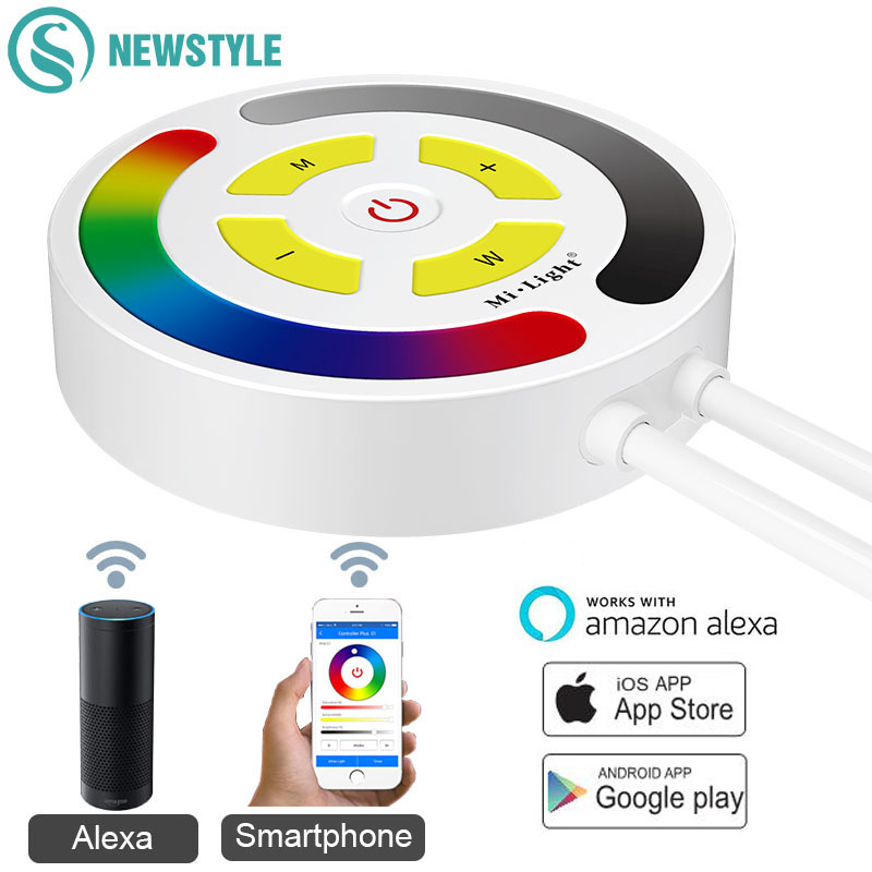 Milight Smartphone APP Voice Control RGB Touch LED Controller Timer WiFi LED Strip Controller By Amazon Alexa Echo IOS Android 5m 16ft smart voice control app wifi waterproof flxible 5050smd rgb led strip light wifi controller for amazon alexa google home