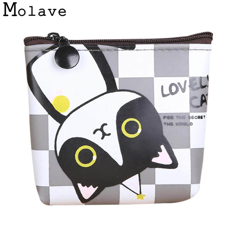 Naivety Mini Coins Purses Cat Printing PU Leather Coin Purse Small Cartoon Prints Animal Wallet 50S71213 drop shipping