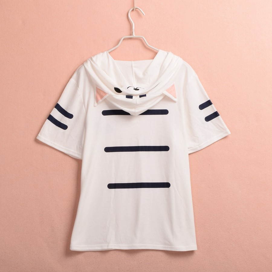 Cat Hooded T Shirt (7)