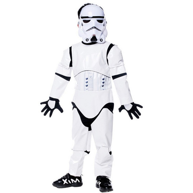 Boys kids Deluxe Star Wars Cosplay Costume Halloween The Force Awakens Storm troopers Costumes  sc 1 st  AliExpress.com & Boys kids Deluxe Star Wars Cosplay Costume Halloween The Force ...