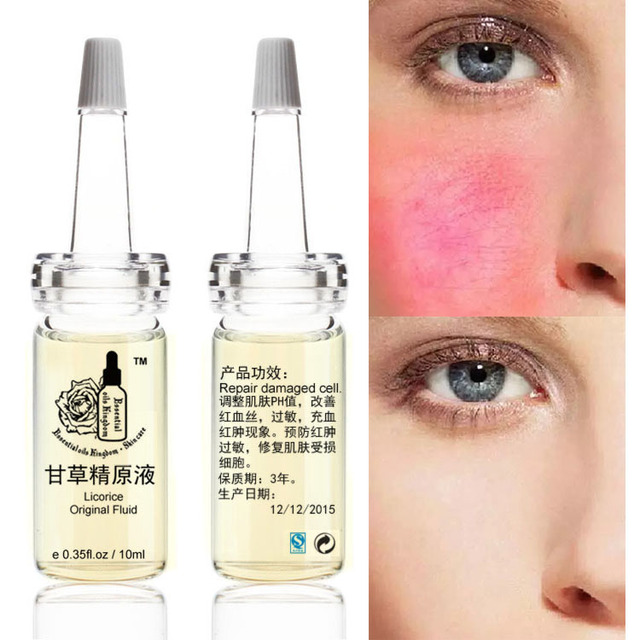 Licorice Original Fluid Red Blood, Swelling, Redness For red broken capilla Finelines Firming Skin Serum Free Shipping 10ml*2pcs