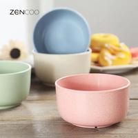 ZENCOO Colorful Plastic Mini Soup Salad Bowls Set Nuts Dessert Serving Dish Instant Noodle Bowls Rice