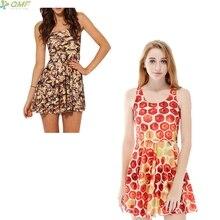 d0cfff0570af Bees 3d Print Gothic Sundress A-line Slim Fashion Women Dress Saias Golden  Honeycomb Pattern