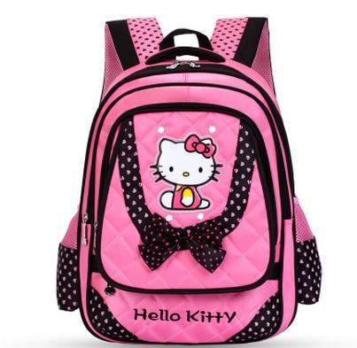 942052ad4cd1 2017 Hello Kitty Children School Bags Infantil Bolsas for Girls Backpack  Female Kid Bag Child Printing Backpacks for Teenage-in Backpacks from  Luggage ...