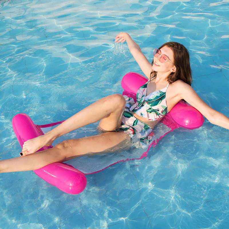 Hot Selling Mattresses For Swimming Pool Inflatable Water Hammock Summer Pool Games Toy Floating Water Mat Chair