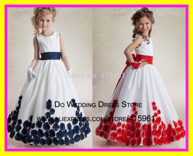 After Six Dresses Red And White Flower Girl Infants Toddler ...