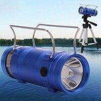 Portable de Múltiples funciones de Pesca Linterna 5 W Azul y Blanco light F4