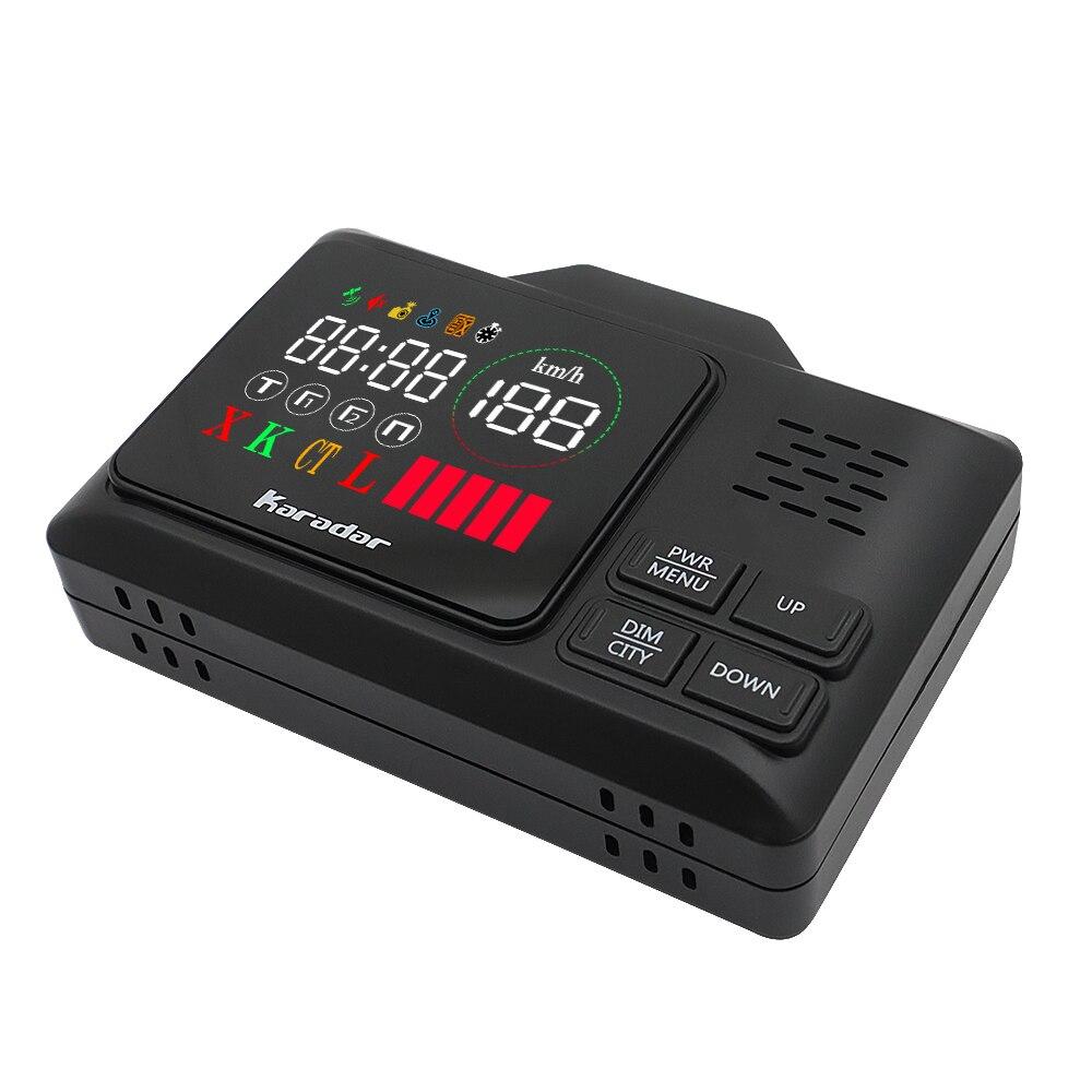 Karadar Voiture GPS anti détecteur de radar 2 dans 1 Police Vitesse GPS pour Russe led Affichage 360 Degrés X K CT L avec 2.4 pouces d'affichage - 6