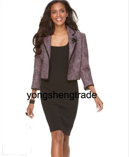 Manches Robe 473 De Et Dames Dame Custom Costumes Veste Made Mode Sans Tweed OARnPwq