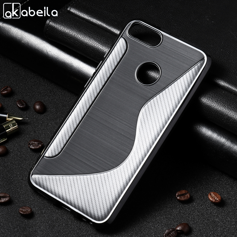 AKABEILA Soft Case For Huawei P9 lite mini Case Silicon For Huawei Nova Lite 2017 Cover S Line Black Cases Enjoy 7 P9lite Mini