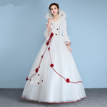 Buy winter long sleeve wedding dresses and get free shipping on lowime women winter wedding dresses long sleeves junglespirit Image collections