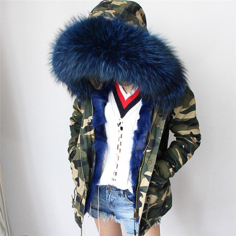 Outwear Laveur À Manteau Femmes Parkas De Kong2017 Armée 6 1 Fourrure 4 Hiver 3 Capuchon Vert 2 5 Doublure Raton Col Renard Veste Maomao Noir 7 Grand Z7vPqP6