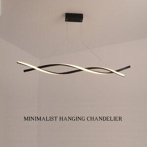 Image 1 - NEO Gleam Matte Black or Grey Minimalist Modern Led Chandelier For Living Room Dining Kitchen Room Surface Mounted Chandelier