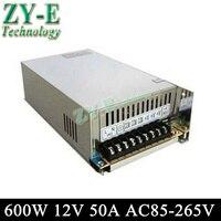 12 В 50A 600 Вт импульсный Светодиодный источник питания постоянного тока неводонепроницаемый Светодиодный драйвер для светодиодный экран дис