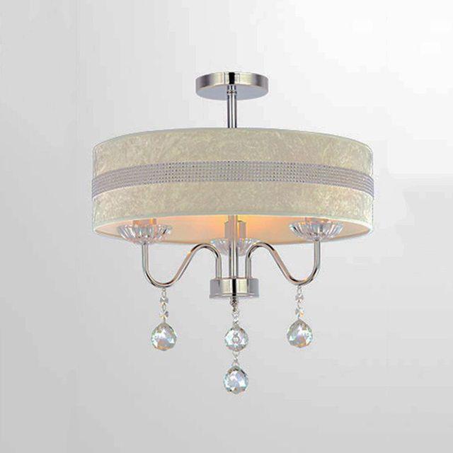Stoffschirm Moderne LED Kristall kronleuchter Durchmesser 40 cm/50 ...