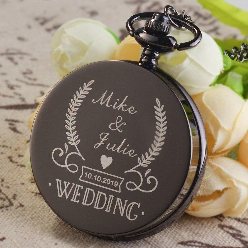 Classic Wedding Quartz Pocket Watch Bronze Antique Necklace Pendant Chain Women Men Watches Birthday Reloj De Bolsillo