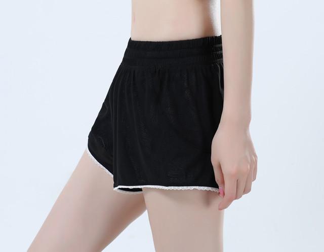 Black Female Loose Summer Sports Shorts