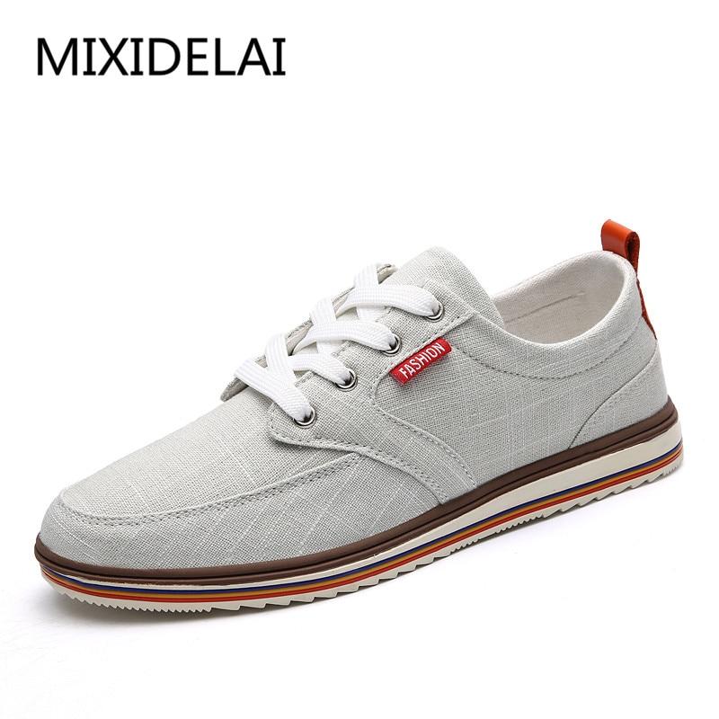 MIXIDELAI Big Size Men Casual Shoes Fashion Breathable Brand Male Shoes Large Size Men Flats Shoes Brand Designer Flats Shoes