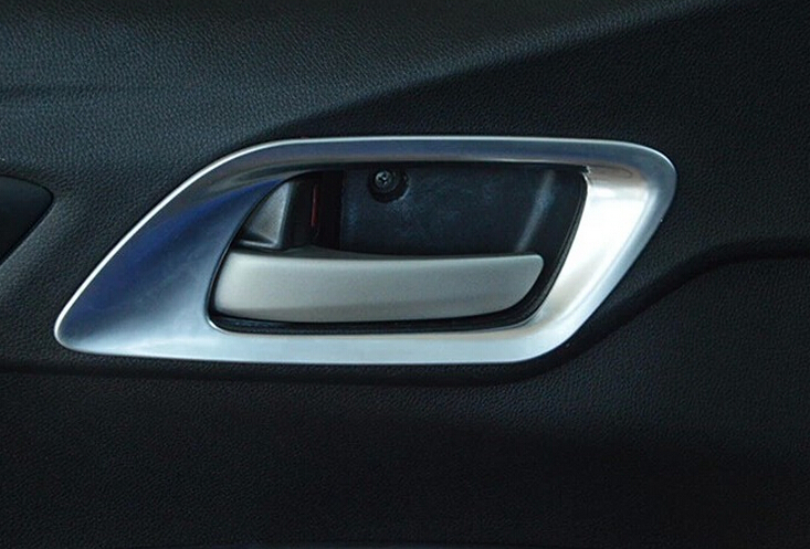 Lapetus Chrome Inner Car Door Handle Bowl Frame Cover Trim Fit For Honda FIT JAZZ 2014 2015 2016 Accessories Interior