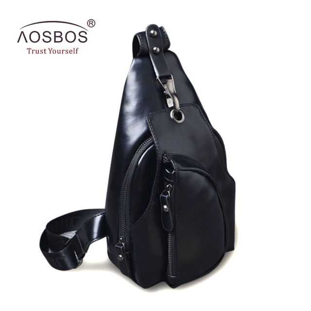 47da6c4ac5d2 New Arrival Men PU Leather Crossbody Bags Casual Waterproof Chest Pack  Business Solid Zipper Shoulder Bag