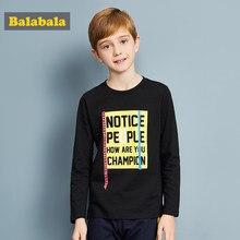 944e39841cb4 Balabala 2018 primavera camiseta niños ropa 100% algodón suave camiseta  niños manga larga niños Tops