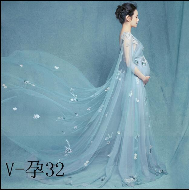 Maternity Photography Props 2017 Royal Style lace Pregnancy Dress Pregnant maternity photo shoot long dress Nightdress стоимость