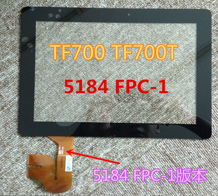 For Asus Transformer Pad TF700 TF700T 5184N FPC-1 Black digitizer touch screen Glass tt tf ths 02b hybrid style black ver convoy asia exclusive