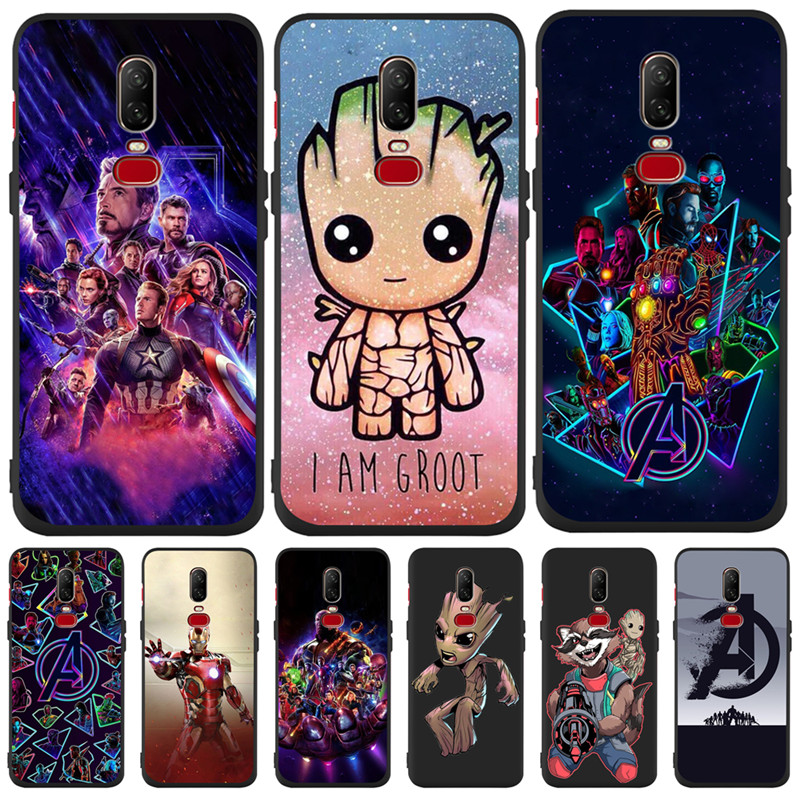 Luxury Marvel Groot Avengers For One plus 5 5T font b 7 b font font b