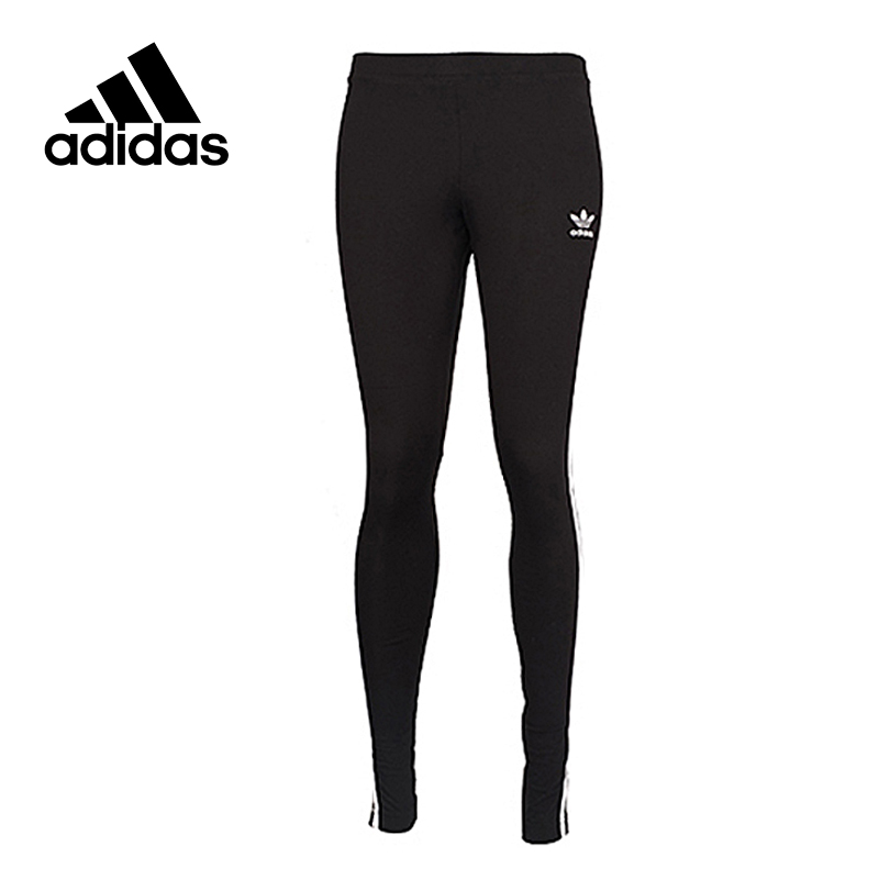 Original Official Adidas Women's Tight Elastic Waist Black Trainning Exercise Pants Sportswear Sports Outdoor Top Quality AJ8156 original new arrival official adidas women s tight elastic training black pants sportswear