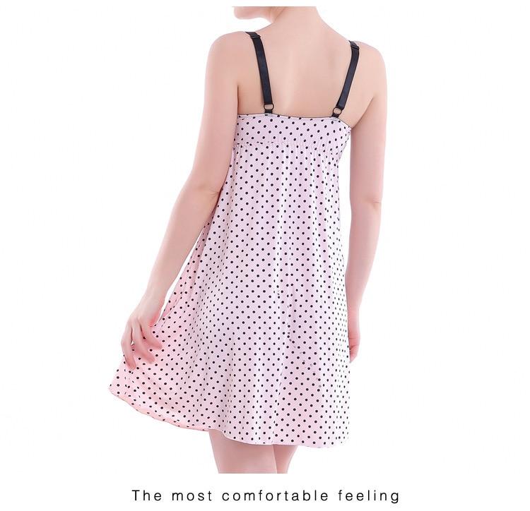 d96ae04669895 New Fashion Women Nightgown for Pregnant Women Ice Silk Summer Maternity  Nursing Clothes Breastfeeding Maternity Sleepwear SY51-in Sleep & Lounge  from ...