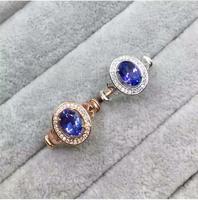 Танзанит кольцо Бесплатная доставка Real и натуральный Танзанит 925 серебро 6*8 мм камень изящных женщин ювелирные изделия